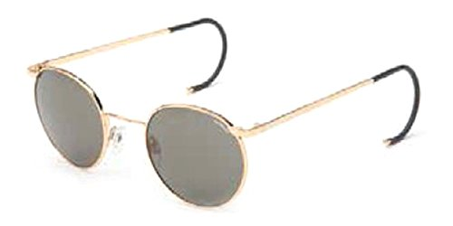 Randolph P3 Sunglasses Gold 23K/Cable/Glass Gray AR 49mm