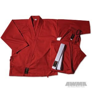 ProForce Gladiator 7.5oz Karate Gi / Uniform - Red - Size 4 by Pro Force