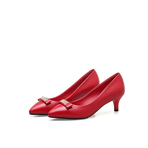 36 Sandales 1TO9 EU 5 Compensées MMS06370 Femme Rouge Red v5BYAqxB