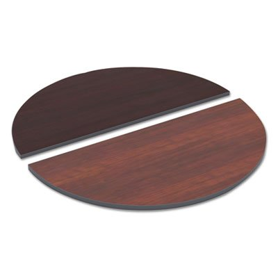 - Alera TTHR48CM Reversible Laminate Table Top, Half Round, 48w X 24d, Medium Cherry/Mahogany