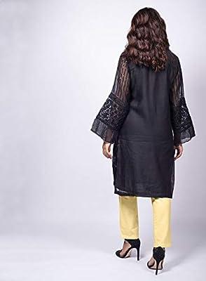 Agha Noor Black Embellished Kurta (K_364): Amazon ae: Vanitykart