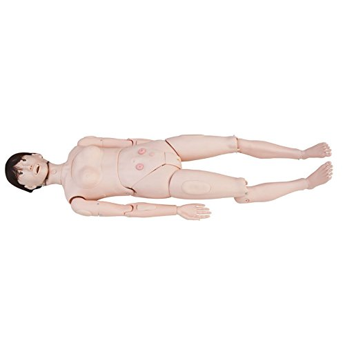 IntBuying Education Model Patient Care Manikin Advanced Multifunctional Training Dual Sex Mannequin ()