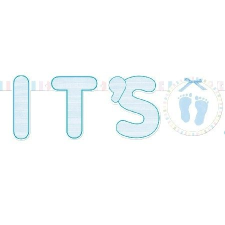 Kids Illustrated Letter (Amscan International Illustrated Letter Banner Its A Boy Soft, Blue)