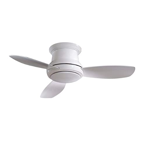 Low profile flush mount ceiling fan amazon minka aire f519 wh concept ii 52 flush mount ceiling fan with light remote control white aloadofball Image collections