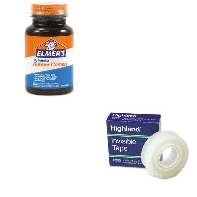 KITEPIE904MMM6200341296 - Value Kit - Elmer's Rubber Cement (EPIE904) and Highland Invisible Permanent Mending Tape (MMM6200341296)
