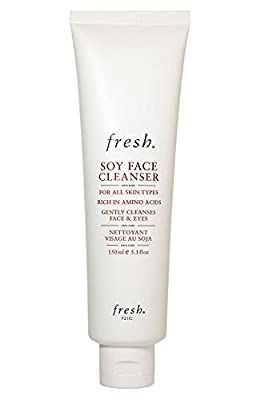 Fresh Soy Face Cleanser and Makeup Remover - Rich in Amino Acids - For Face and Eyes