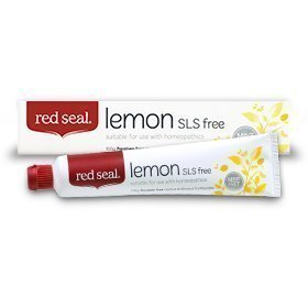 Flavor Free Toothpaste (Red Seal Natural Lemon SLS Free Toothpaste That's Mint-free)