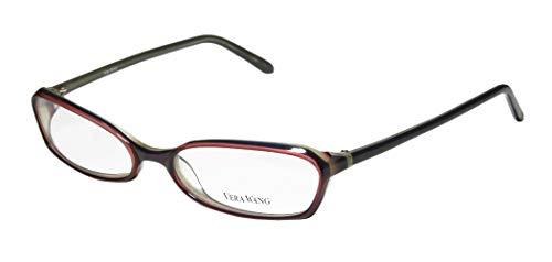 Vera Wang Glasses - Vera Wang V104 For Ladies/Young Women/Girls Designer Full-Rim Shape Unique Shape Fancy Eyeglasses/Eyewear (53-17-135, Purple/Plum)