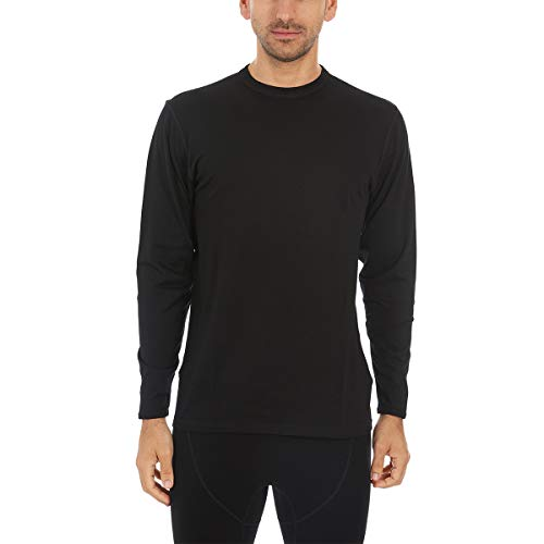 Minus33 Merino Wool Men's Ticonderoga Lightweight Crew, Black, X-Large