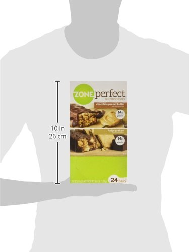ZonePerfect Nutrition Bars, Fudge Graham/Chocolate Peanut Butter Combo. 1.76 OZ, 24 Bars by Zone Perfect (Image #8)