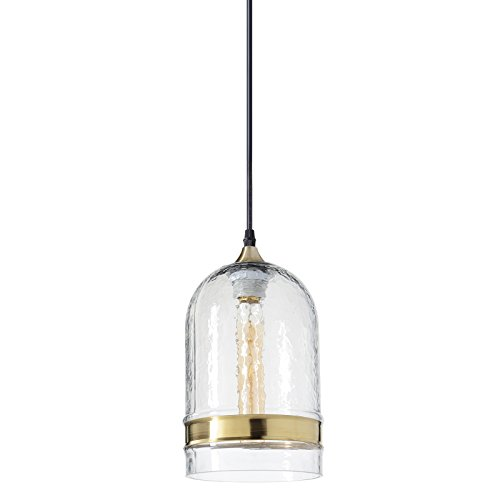 Hammered Brass Pendant Light in US - 1