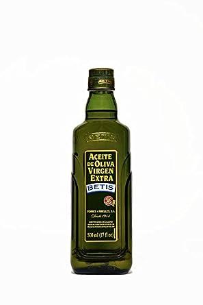 BETIS - Aceite de Oliva Virgen Extra - 500 ml en botella de cristal ...: Amazon.es: Alimentación y bebidas