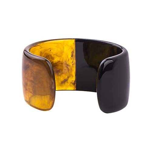 - Design Fashion Lucite Resin Cuff Bangles Bracelets For Women High Street Jewelry Bangle 10 Colors Black Gun Plated