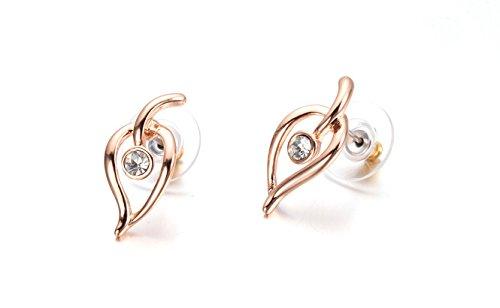 lily bijoux le strass, la feuille de haute qualité qui les boucles d'oreilles de cristal autrichien