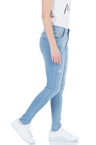 malucas Vaqueros mujer para Azul skinny aBw7aS