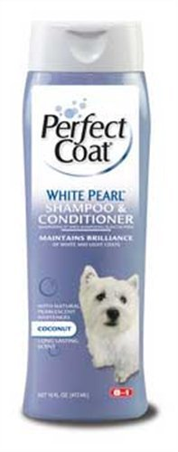 8 In 1 Pet Products DEOI642 Perfect Coat White Pearl Dog Shampoo, 16-Ounce, My Pet Supplies