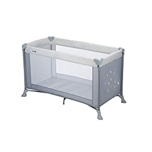 Safety 1st Soft Dreams Lit Parapluie Bébé De Voyage, Pratique et Compact Warm Grey 3