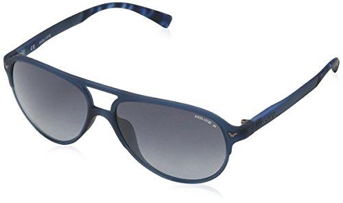 Police Sunglasses Game 15, Montures de Lunettes Garçon, Bleu (Full Blue Rebberized), 45