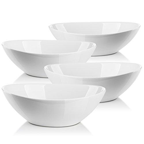 Lifver 1.1-quart/36-oz Porcelain Serving Bowls for Salad/Side dishes/Soup/Dessert Set of 4 White  sc 1 st  Amazon.com & Unique Serving Bowls: Amazon.com