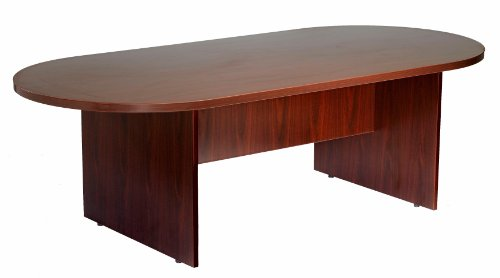 Boss Office Products 10Ft Race Track Conference Table, Mahogany by Boss Office Products