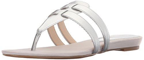 Nine West Fuera sintético vestido de la sandalia Silver