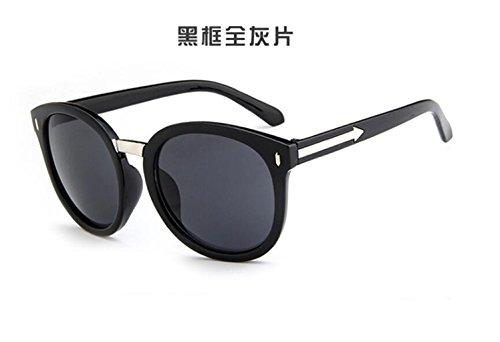 sol gafas box gafas sol flecha GLSYJ los moda gafas retro de sol Black LSHGYJ star de modelos gray Nail sheet de salvaje n8ZwqH4xY