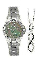 Pulsar Swarovski® Pendant and Women's watch Box set #PTC535