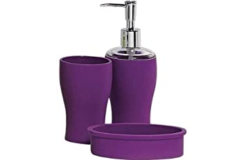 colourmatch bathroom accessories set purple fizz