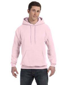 Hanes Men's Fleece Full Cut Hood Pullover Hoodie, PALE PINK, Small