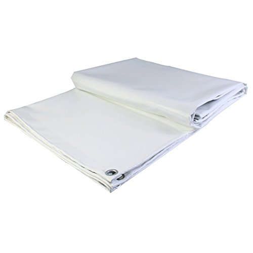 AJZGF Regenschutz Wasserdicht Plane, LKW-Regenproof-Sonnenschutzplane, Staub- und Winddichtes Schuppengewebe, hochtemperaturBesteändiges Anti-Aging, weiß (Farbe   Weiß, größe   2X2M)