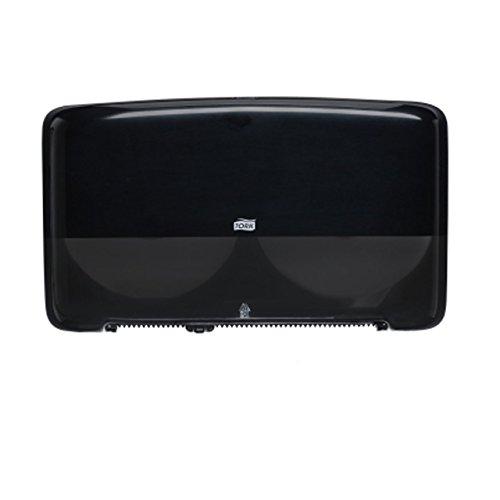 Tork 5555290 Elevation Bath Tissue Jumbo Roll Mini Twin Dispenser, Black ()