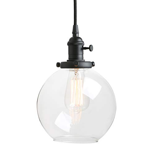 Glass Globe Pendant Light Shade in US - 2