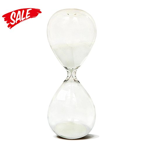 Hourglass, HoveBeaty Hand-Blown Sand Timer Set for Time Management 15 Minutes Durable Glass Construction (15 min, (Sand Time)
