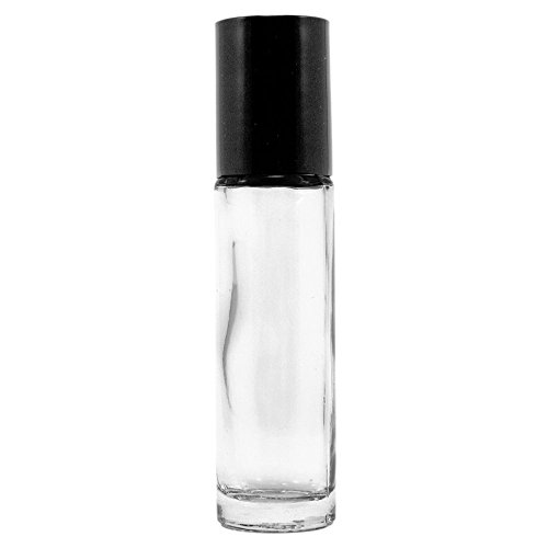 18 Empty Glass 10ml Roll On Perfume Bottles by NATURAL-COSMETICS BEAUTY