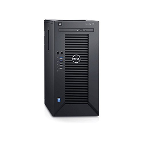 2018 Flagship Dell PowerEdge T30 Business Mini Tower Server System - Intel Quad-Core Xeon E3-1225 v5 8M Cache, 16GB UDIMM RAM, 1TB HDD, DVD+/-RW, HDMI, No Operating System - Black