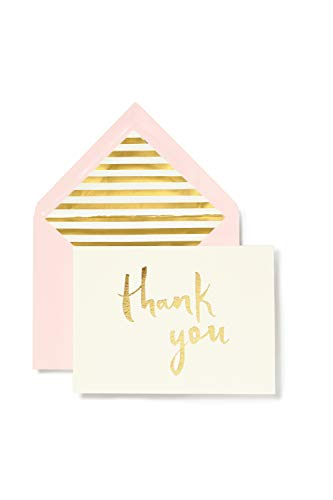 (kate spade new york Bridal Note Card Set - Thank You (Gold))