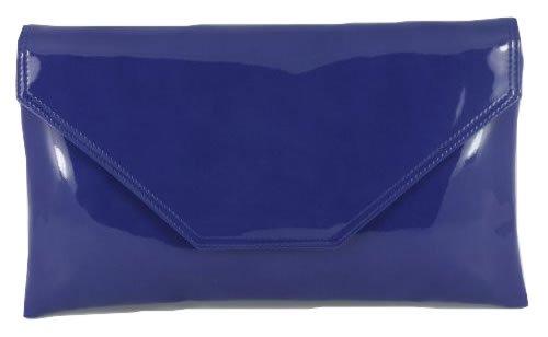 LONI Stylish Sac Femme Verni Pochette Blue Simili Royal Bandouliere rwqrFtHn5