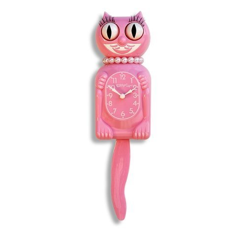 Pink Miss Kitty Cat Clock product image