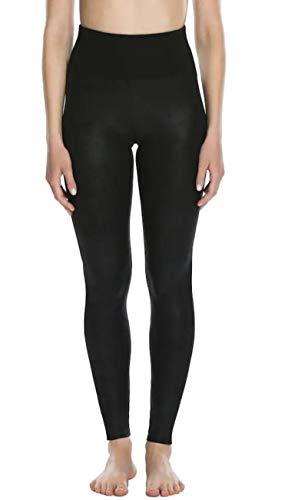 SPANX Women's Red Hot Label Faux Leather Front Panel Leggings Ladies Slimming Legging Pant (Medium, Very ()
