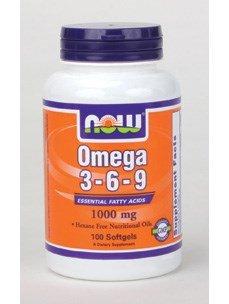 NOW Foods Omega 3-6-9 -- 1000 mg - 100 Softgels