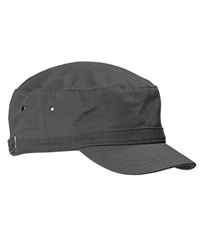 Big Accessories Bagedge Short Bill Cadet Cap, CHARCOAL, One Size