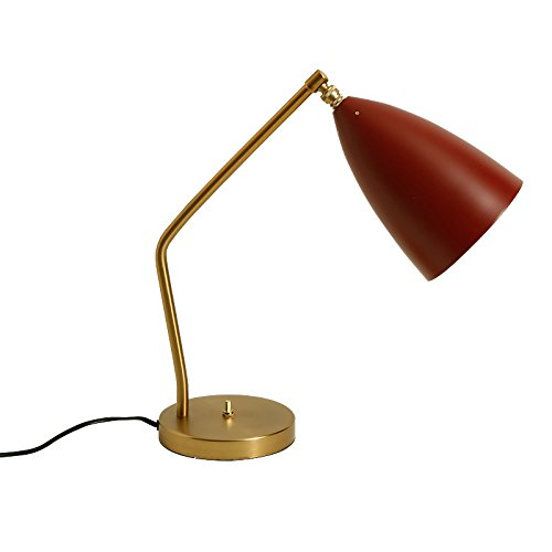 KXBYMX,Nordic desk lamp Creative desk lamp, simple student desk eye reading lamp, bedroom bedside lamp Interior table lamp (Color : Red) ()