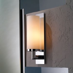 Ginger 2881/26 1 Light Up Lighting Wall Sconce, Polished Chrome