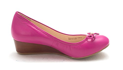 Cole Haan Womens Elisamariesam Closed Toe Wedge Pumps Purple 4xKaR