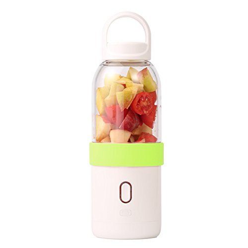 iGoods Portable Blender, Rechargeable Mini USB Juicer Cup Water Bottle, Personal Size 550ML Fruit Blender Mixer Maker, Smoothies/Shakes/Baby Formula Vegetables Mixing Machine (Green)