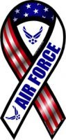 (Car Magnet 2-in-1 Red, White, and Blue Air Force 8
