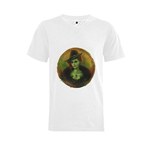 ALLIEED Men's Once Upon a Time Zelena Cartoon T-shirt -L white ()