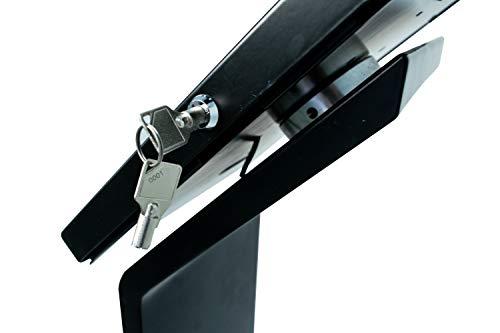CTA Digital PAD-PARAF Premium Locking Floor Stand Kiosk for 11-inch iPad Pro/Air/Gen. 5-6 / Pro 10.5 / Galaxy Tab A 9.7'' / S2 9.7'' / 3 10.1'' / 4 10.1'' by CTA Digital (Image #3)