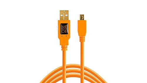 Tether Tools TetherPro USB 2.0 to Mini-B 5-Pin Cable, 15' (4.6m), High-Visibility...