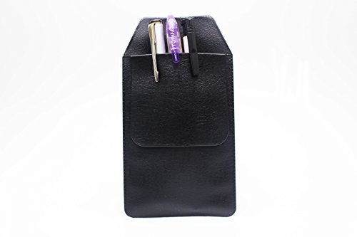 6 Pcs Black Vinyl Pocket Protector, for Pen Leaks,for School Hospital Office by Alago (Image #3)